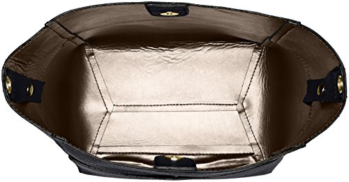 Chicca Borse 8820, Borsa a Spalla Donna, 36x32x16 cm (W x H x L) Grigio (Grigio/Nero)