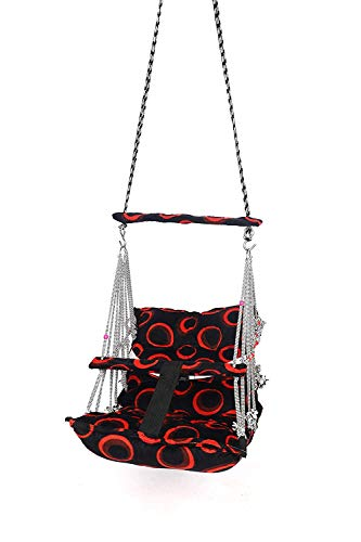 Khel Khilona Swing for Kids Folding and Washable 1-3 Years with Safety Belt Home Garden Jhula