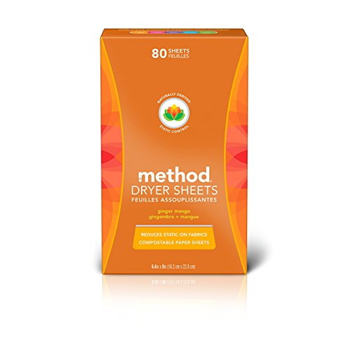 Method Dryer Sheets, Ginger Mango, 80 Sheets (6 Count)