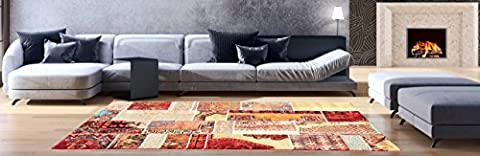 AREA RUGS - Anti-Bacterial Decorative Modern Contemporary Designs for Living Room Bedroom Kitchen Home Entrances - 94-inch-by-118-inch, Olefin FIBER, Frieze YARN - (Indian Design Throw Rugs)