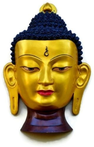 Amazon.com: CraftVatika Buddha Mask Wall Hanging- Very Large Buddha ...