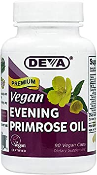 Deva, Vegan, Premium Evening Primrose Oil, 3Pack 90 Vegan Caps an Excellent Source