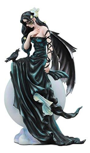 Ebros Large Gothic Lunar Eclipse Raven Fey Fairy Statue 11