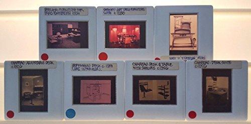 7 Vintage FURNITURE DESKS Architecture 35mm Picture (Vintage 35mm Slide)