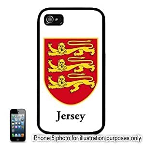 Jersey Coat of Arms Flag Apple iPhone 5 Hard Back Case Cover Skin Black by ruishername