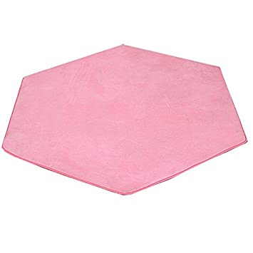 Hexagonal Pour Tapis Coral Fleece Rose Super Doux Home Tapis Tapis