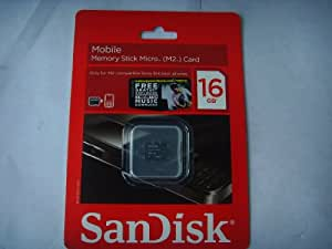 Sandisk 16GB Memory Stick Micro M2 Card with Pro Duo Adapter (Bulk Packaged)