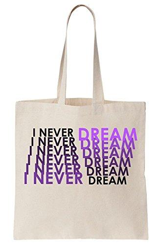 Tote Canvas Dream I Text Purple Trippy Bag Never 4AWwUqY