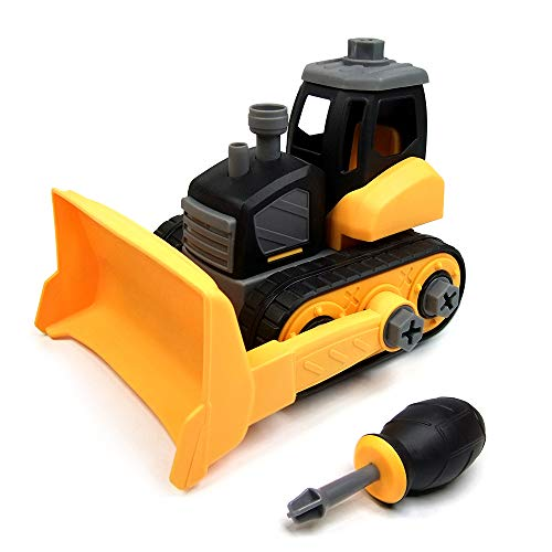 WisToyz Take Apart Toys, Toy Bulldozer with Constructions Set, Toy Vehicles...