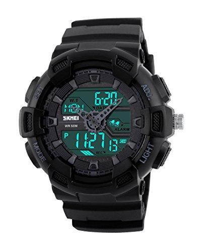 Skmei Analog Digital White Dial Men's Watch   1189