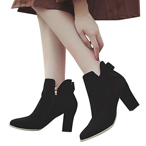 Gamuza Martin De Botines Adulto botas Para Botas Con Calientes Ante Hebilla Tacones Mujer Altas Mujer Polp Zapatos TpxvZBwq