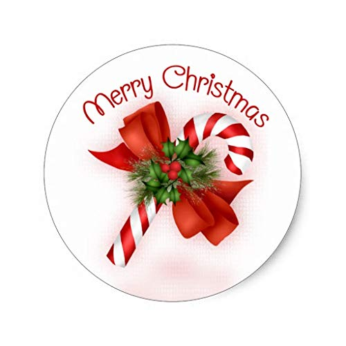 - Candy Cane Christmas Label Stickers Xmas Gift Tag Stickers Self Adhesive Labels