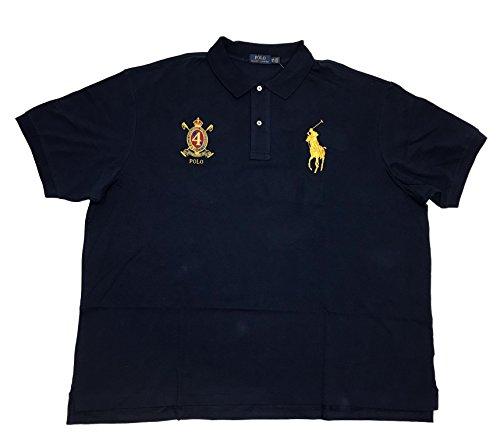 Polo Ralph Lauren Mens Classic Fit Big Pony Polo Shirt, Navy Blue