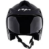 Vega Crux Half Face Helmet (Black, M)