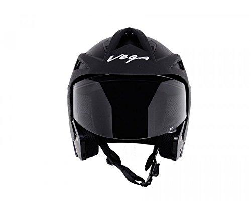 Vega Crux Half Face Helmet (Black, M) Rs.801