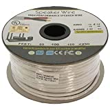 Installerparts 250Ft 14AWG/2C In-wall Speaker Wire, OFC CL2 UL OD-7mm White Jacket