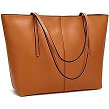 Obosoyo Women's Handbag Genuine Leather Tote Shoulder Bags Soft Hot