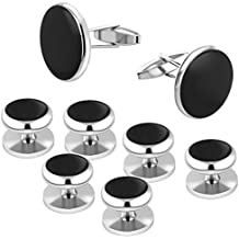 Darller Mens Cufflinks and Cuff Studs Set Classic Wedding Cuff Links for Tuxedo Shirts Formal Business Shirts