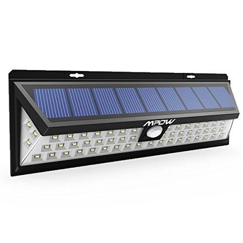 Mpow 1 Stück 54 LED Solarleuchte Außen Wasserdichte Solar Betriebene Lampe mit 120° Weitwinkel Bewegungs Sensor Solar für Garten, Terrasse, Wegbeleuchtung