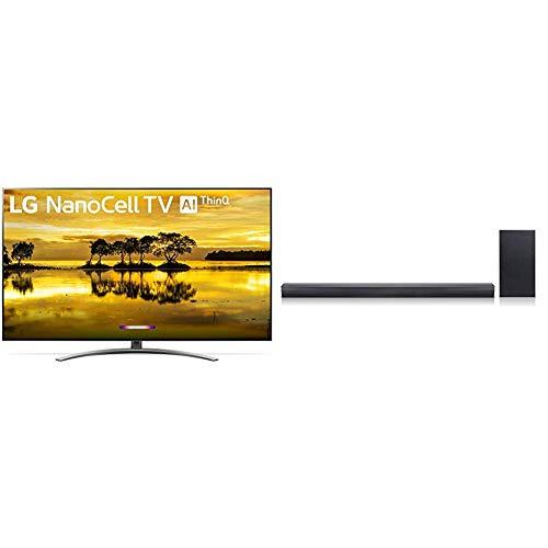 "LG 55SM9000PUA Nano 9 Series 55"" 4K Ultra HD Smart LED NanoCell TV (2019) Bundle with LG SJ4Y 2.1 Channel 300 Watt High Resolution Audio Sound Bar"