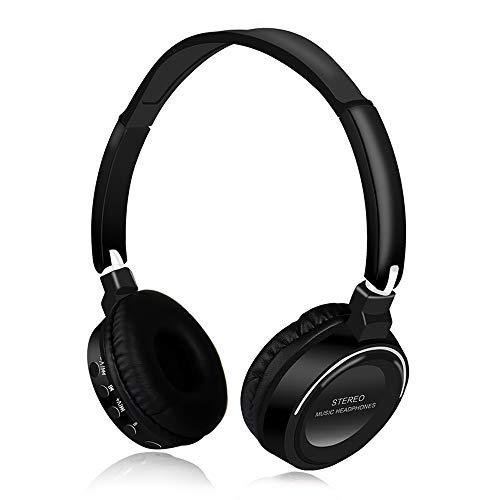 BSDK Wireless Headset, Foldable Bluetooth Headset Bluetooth 4.2 High Fidelity Call FM Radio Multifunction,Black ()