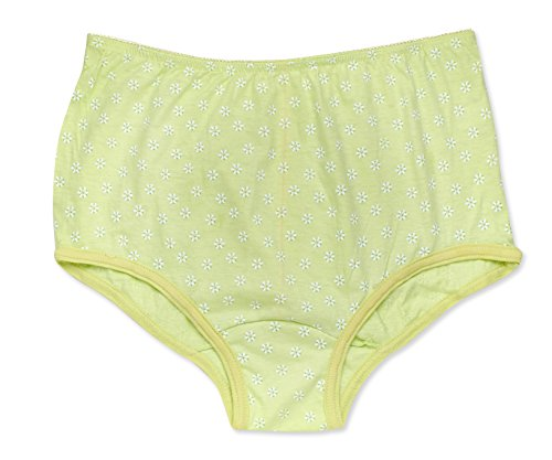 Rosette Women's Full Cut Soft Cotton Brief Panty - Pack of 3 - Various Colors Green 8 -