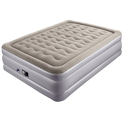 Sable Queen Size Air Mattress Blow Up Inflatable Airbed With Build In Pump Storage Bag And Repair Patches Included 30 Month Guarantee
