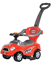 3-in-1 baby car with back and back, removable arm and pedal for baby's foot