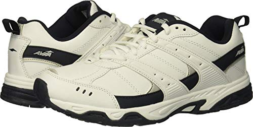 Avia Men's Avi-Verge Sneaker, White/True Navy, 12 Wide US by Avia (Image #3)