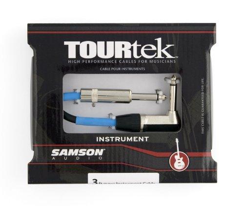 Samson Tourtek TIL3 3' Instrument Cable with (1) Right Angle Connector ()