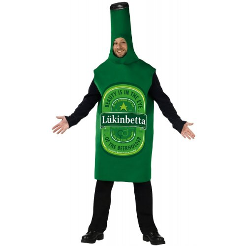Heineken Costume Bottle Beer (Lukinbetta Beer Bottle Costume - Standard - Chest Size)