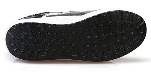 Scarpe Da Donna Con Paillettes Di Ausom Altalena Scarpe Altezza Cunei Piattaforma Camminare Fitness Sneaker Argento