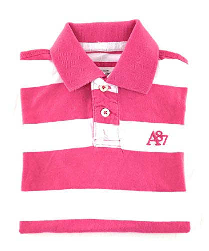 Aeropostale Mens Striped Polo Shirt XX-Large Pink White ()