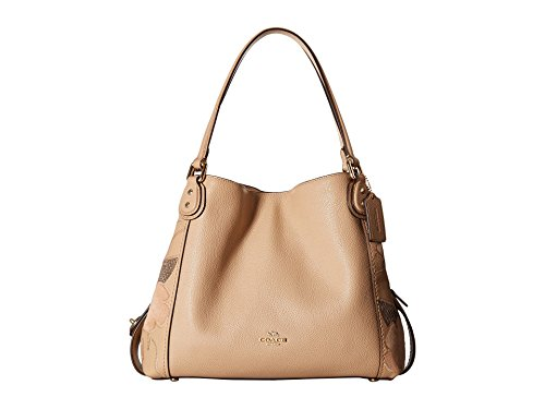 COACH Women's Patchwork Tea Rose Edie 31 Shoulder Bag Li/Beechwood One ()