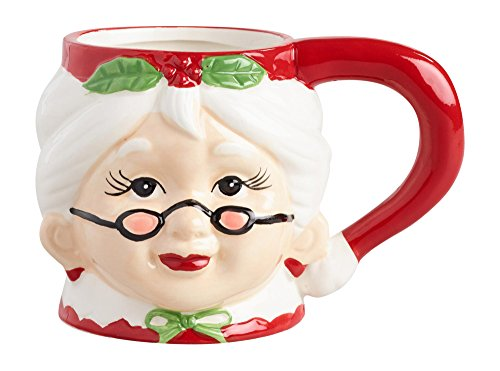 Mrs. Claus Ceramic Christmas Mug (Mrs Claus Christmas)