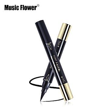 Beauty Essentials Music Flower Brand Eyes Makeup Tattoo Seal Liquid Eyeliner Pen Waterproof Matte Black Stamp Wanton Eye Liners 24hr Long-lasting Back To Search Resultsbeauty & Health