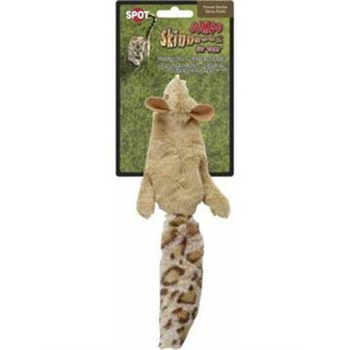 Ethical Skinneeez Squirrel 12-Inch Cat Toy