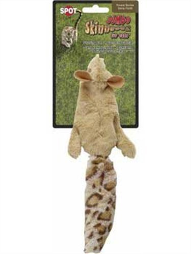 (Ethical Skinneeez Squirrel 12-Inch Cat Toy)