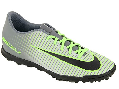 pure Plateado Football Homme Green Chaussures De Tf ghost Mercurialx Vortex Nike Black Platinum Iii UxYwz8