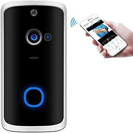 ワイヤレスチャイム 呼び鈴 ビデオドアホン スマート WiFi 防犯カメラ ビデオドアベル 玄関チャイム スマホ対応 防犯対策 双方向音声 赤外線暗視機能 動体検知 遠隔監視 防塵防水