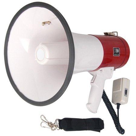 Pro 50 Watt Loud Megaphone W/ Siren Bullhorn Speaker Outdoor Portable Amplifier -