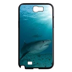 WJHSSB Diy Phone Case Deep Sea Shark Pattern Hard Case For Samsung Galaxy Note 2 N7100