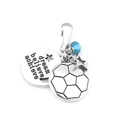 Soccer Gifts, Soccer Team Gift, Soccer Zipper Pull, Girls Soccer Player Gift, Soccer Gifts For Girls,Soccer Bag Charm, Soccer Bag