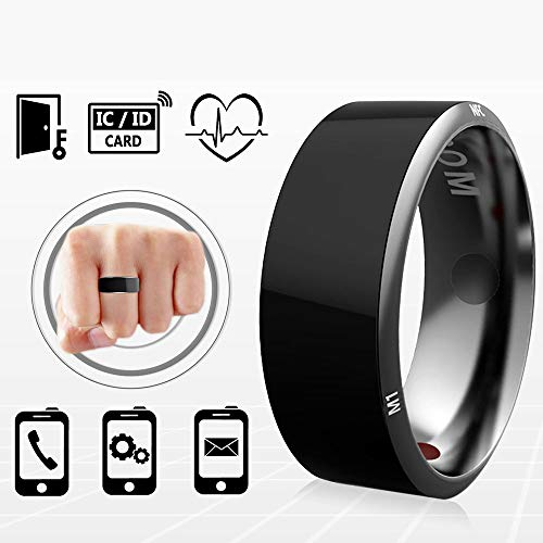 PURROMM Smart NFC Multifunctional Ring for Android Windows Phones Payment Black Titanium Jewelry,10