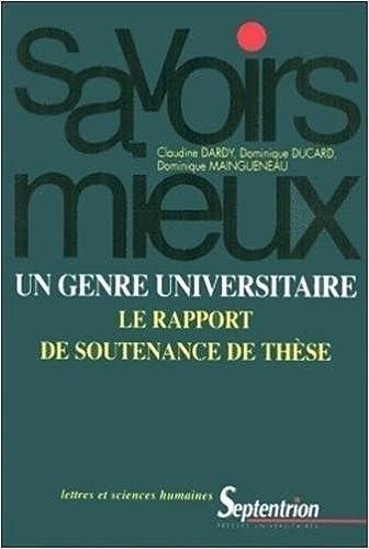 En ligne téléchargement gratuit Un genre universitaire : le rapport de soutenance de thèse pdf epub