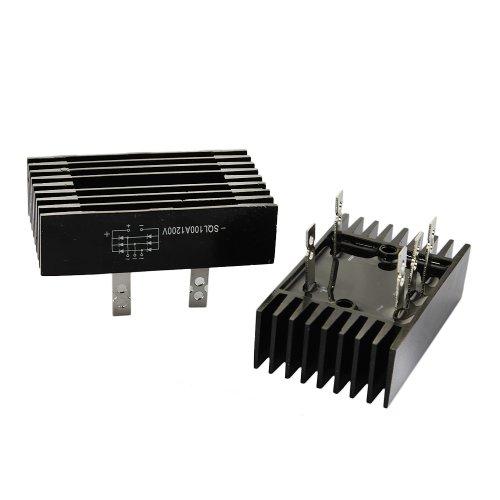 2 PCS SQL 100A Amp 1200V 3 Phase Diode Metal Case Bridge Rectifier