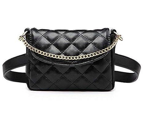 6a5c6886fc868b Amazon.com: Womens Fashion Waist Bag, Small Leather Belt Purse, Stylish Pu Fanny  Pack, Trendy Clutch Bag, Outdoor Cool Hip Bag, Travel Belt Pouch: JURUAA ...