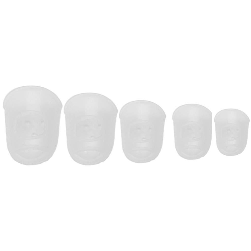 Elenxs 5PCS silicona protector del dedo del dedo Guardia dedil para la secuencia de la guitarra