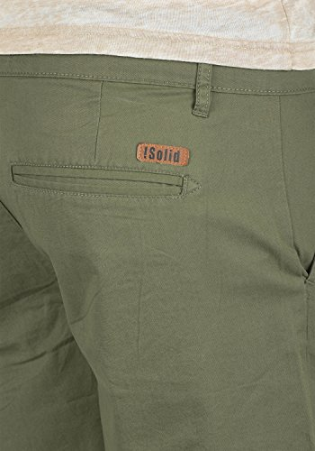 Regular Short Dusty Bermuda Coupe Court Chino Pour Coton 3784 Thement Homme Oliv solid 100 Pantalon 5BqP7P