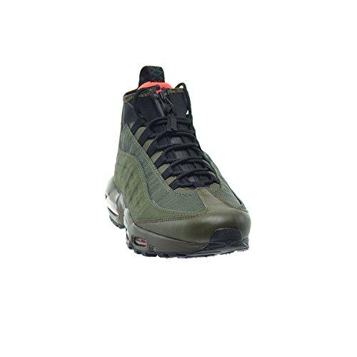 Nike Air Max 95 Sneakerboot Heren Schoenen Dark Loden / Black / Cargo Khaki / Bright Crimson 806809-300
